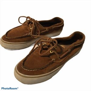 Sperry Sueded Leather Boat Shoes Sneakers